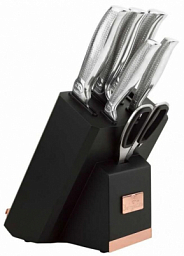 Berlinger Haus 8 Pcs Knife Set with Stand with Built-in Sharpener and iPad-Book Holder BH 2339