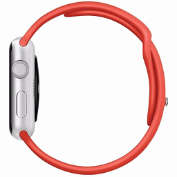 Apple Watch sport 42mm Silver Aluminum - Orange Sport Band (MLC42)