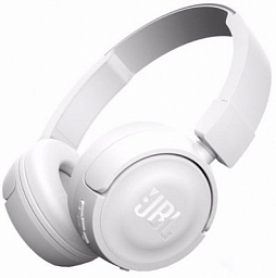 JBL T450BT Bluetooth Wireless on Ear Headphones White