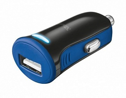 Trust 5W Car Charger - blue (20739)