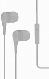 T-Tech J10 In-Ear Headphone with Microphone 3.5mm Grey