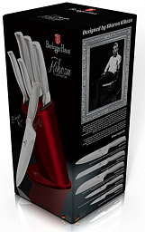 Berlinger Haus Kikoza Collection 6 pcs Knife Set with Stand BH2273A
