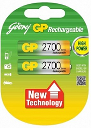 GP Rechargeable battery AA(2) 2700mAh
