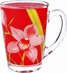 Luminarc Red Orchis Mug, 320 ml, G3689