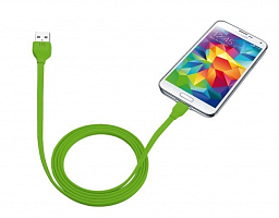 Trust URBAN Flat Micro-USB Cable 1m - lime (20138)