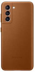 Çexol Samsung S21 Leather Cover Brown - Maxi.az