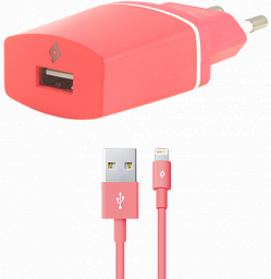 Ttec Compact Charger iphone (2SCC2001P) Pink