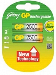 GP Rechargeable battery AA(2) 2500mAh