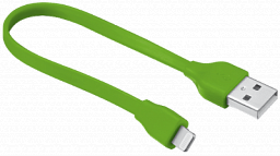 Trust Flat Lightning Cable 20cm - lime green (20134)