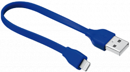Trust Flat Lightning Cable 20CM - blue (20132)