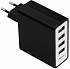 "Hama ""Auto-Detect"" 4-Port USB Charging Adapter for Tablets"