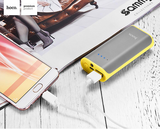 Portativ şarj cihazı (Power Bank) Hoco 5200mah Grey - Maxi.az