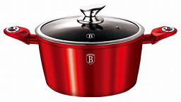 Berlinger Haus Casserole with Lid 24cm, Burgundy Metallic Line BH-1257