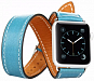 Smart Watch üçün dəri qolbaq Toto Leather Belt Apple Watch 38mm blue - Maxi.az