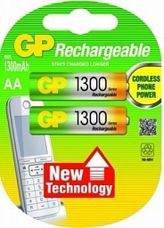 GP Rechargeable battery AA(2) 1300mAh