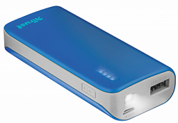 TRUST PRIMO POWERBANK 4400 PORTABLE CHARGER - BLUE (21225)