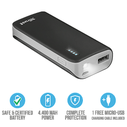 Trust Primo Poüerbank 4400 Portable Charger Black (21224)