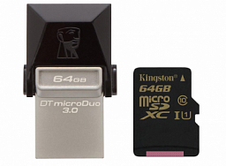 Kingston 64GB  DT MicroDuo USB 3.0 + microUSB (Android/OTG)