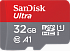 SanDisk 32 GB microSDHC UHS-I Ultra A1 + SD Adapter SDSQUAR-032G-GN6MA