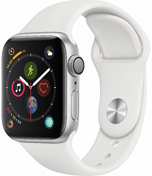 Apple Watch S4 40mm Silver Aluminum Case with White Sport Band (MU642LL/A)