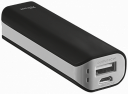 Trust Primo Powerbank 2200 Portable Charger, Black (21221)