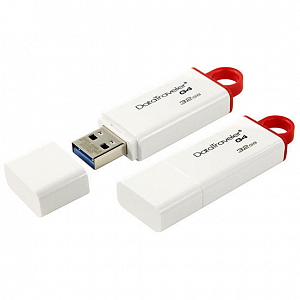 USB-Fləş Kingston 32GB USB 3.0 DataTraveler I G4 (White + Red) - Maxi.az