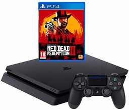 Sony PS4 Slim 500GB Black (Red Dead Redemption 2 bundle)