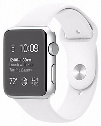 Apple Watch S2 42mm Silver - White Sport (MNPJ2)