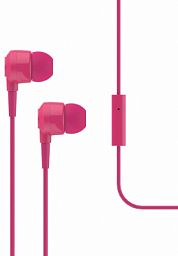 T-Tech J10 In-Ear Headphone with Microphone 3.5mm pink