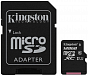Kingston 128GB microSDXC Canvas Select 80R CL10 UHS-I Card + SD Adapter