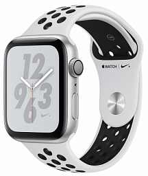 Apple Watch Nike+ Series 4 44mm Silver Aluminum Case with Platinum/Black Nike Sport Band (MU6K2)