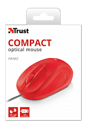 TRUST PRIMO OPTICAL MOUSE Red (21793)