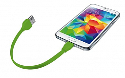 Trust URBAN Flat Micro-USB Cable 20cm - lime (20142)