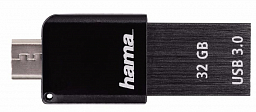 Hama USB Flash Canny 32 Gb 3.0 Otg Black
