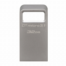 Kingston 32GB DTMicro USB 3.1/3.0 Type-A metal ultra-compact drive