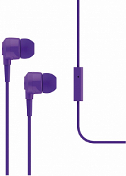 T-Tech J10 In-Ear Headphone with Microphone 3.5mm Violet