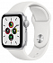 Apple Watch SE 40mm Silver Aluminum Case with White Sport Band - Silver