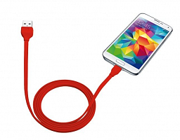 Trust URBAN Flat Micro-USB Cable 1m - red (20137)