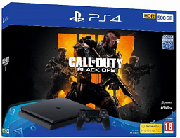 Sony PS4 Slim 500GB Black (Call of Duty: Black Ops IV Bundle)
