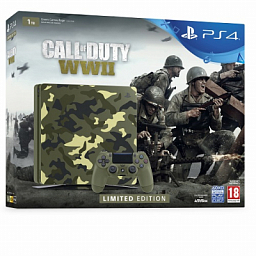 Sony PS4 Slim 1TB Black (Call of Duty: WWII Bundle)