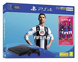 Sony PS4 Slim 500GB Black (FIFA 19 Bundle)