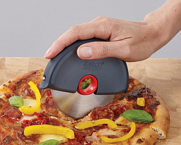 Joseph Joseph Disc Easy-Clean Pizza Wheel, Grey/ Red (20038)