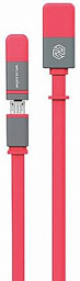 Nilkin Plus Cable (Lightning and Micro) Red